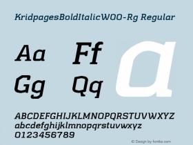 KridpagesBoldItalic-Rg