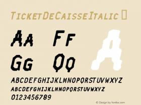 TicketDeCaisseItalic