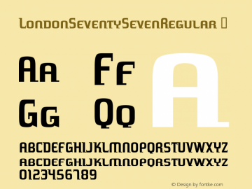 LondonSeventySevenRegular