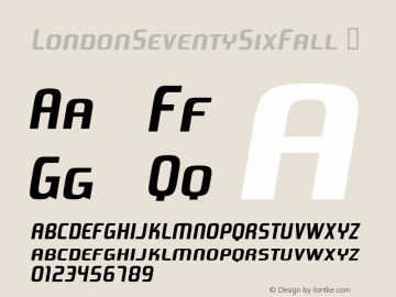 LondonSeventySixFall
