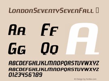 LondonSeventySevenFall