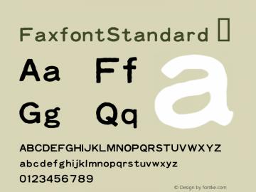 FaxfontStandard