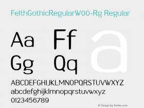 FelthGothicRegular-Rg