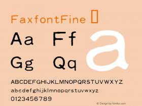 FaxfontFine