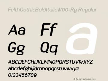FelthGothicBoldItalic-Rg