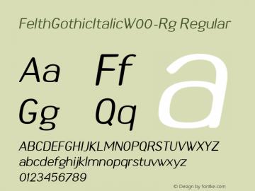 FelthGothicItalic-Rg
