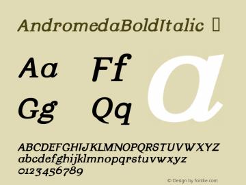AndromedaBoldItalic