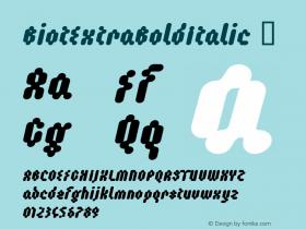BiotExtraBoldItalic