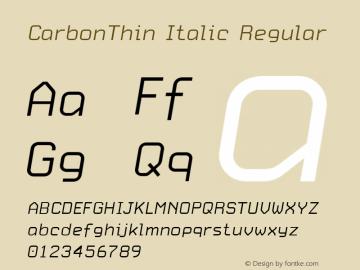 CarbonThin Italic