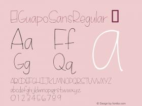 ElGuapoSansRegular