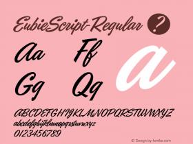 EubieScript-Regular