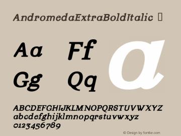 AndromedaExtraBoldItalic