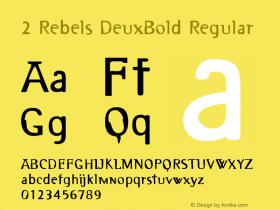 2 Rebels DeuxBold