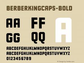 BerberKingCaps-Bold