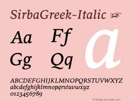 SirbaGreek-Italic