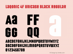 Laqonic 4F Unicase Black