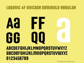 Laqonic 4F Unicase SemiBold