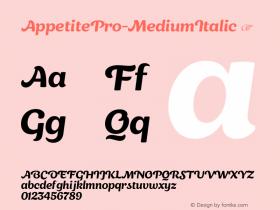AppetitePro-MediumItalic
