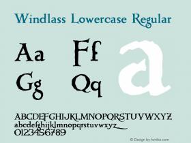 Windlass Lowercase