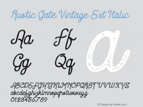 Rustic Gate Vintage Ext