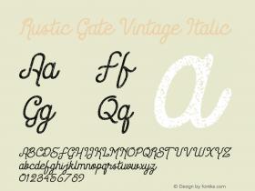 Rustic Gate Vintage