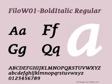 Filo-BoldItalic