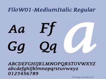 Filo-MediumItalic