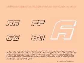 Defcon Zero Outline Italic