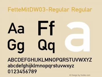 FetteMitD-Regular