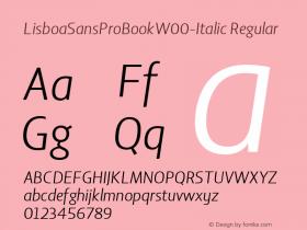 LisboaSansProBook-Italic