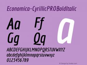 Economica-CyrillicPROBoldItalic