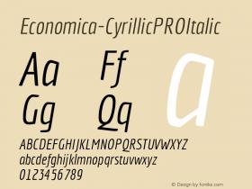 Economica-CyrillicPROItalic