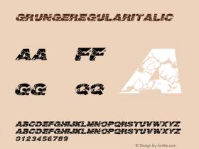 GrungeRegularitalic