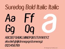 Suredog Bold Italic