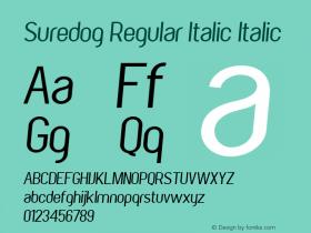 Suredog Regular Italic