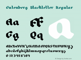 Gutenberg Blackletter