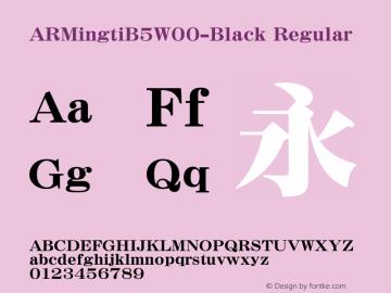 ARMingtiB5-Black
