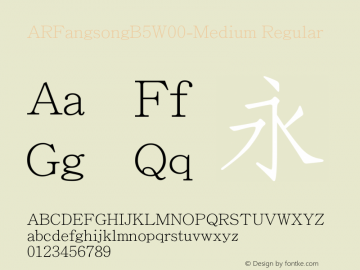 ARFangsongB5-Medium