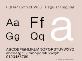 FBHanGothicR-Regular