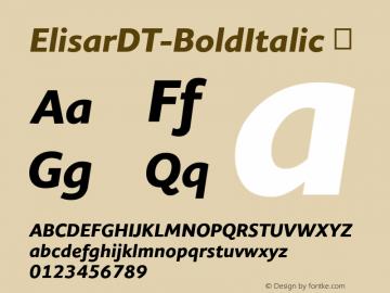 ElisarDT-BoldItalic