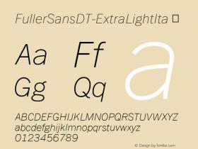 FullerSansDT-ExtraLightIta