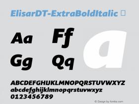 ElisarDT-ExtraBoldItalic