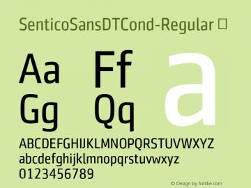 SenticoSansDTCond-Regular
