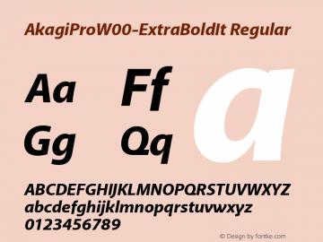 AkagiPro-ExtraBoldIt