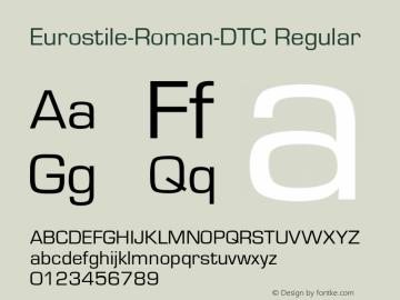Eurostile-Roman-DTC