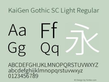 KaiGen Gothic SC Light