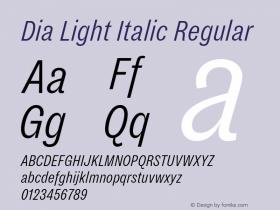 Dia Light Italic