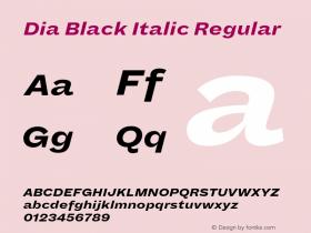 Dia Black Italic