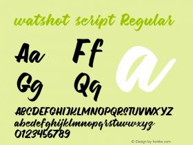 watshot script