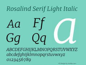 Rosalind Serif Light